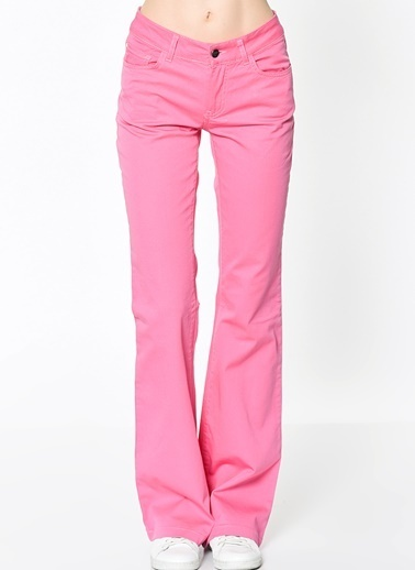 Lee Cooper Pantolon | Kate Slim Flared Pembe